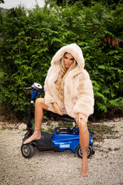 JYY Faux Fur Coat - Cream