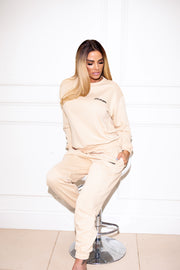 JYY London Trackie - Beige/Black Logo