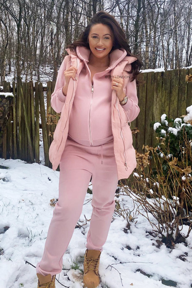 JYY Tracksuit & Padded Gilet - Pink
