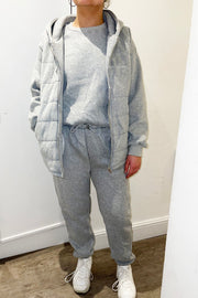 JYY Fleece Tracksuit & Gilet - Light Grey