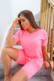 JYY Summer Club Short Set - Neon Pink PREORDER 11TH JUNE