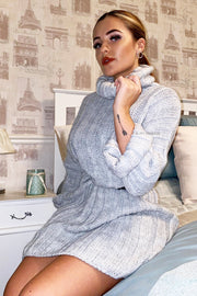 Oversized Jumper Dress - Grey