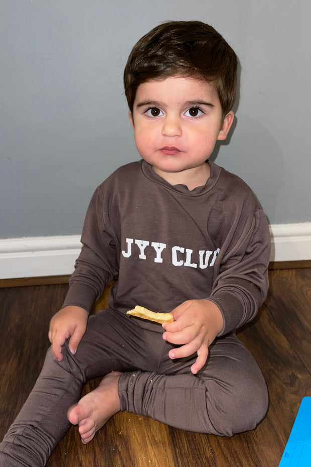 Kids JYY Club Lounge Set - Mocha