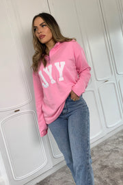 JYY Zip Up Sweat Top - Pink