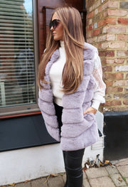 Faux Fur Gilet - Light Grey