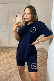 JYY Summer Club Short Set - Navy PREORDER 11TH JUNE