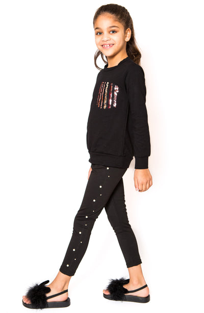Pearl Leggings - Black