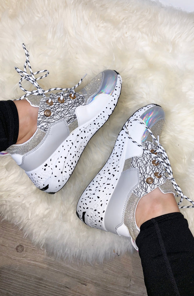 Sparkle Iridescent Sneakers - White
