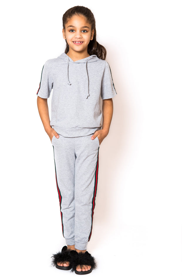 Stripe Side Trackie - Grey