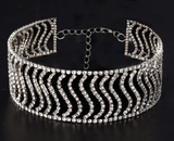 Whitney Diamante Choker - Silver