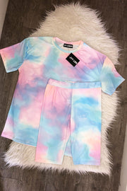 Tie Dye Short Set - Blue & Pink PREORDER 3RD JUNE