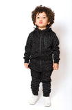Zip Detail Tracksuit - Black