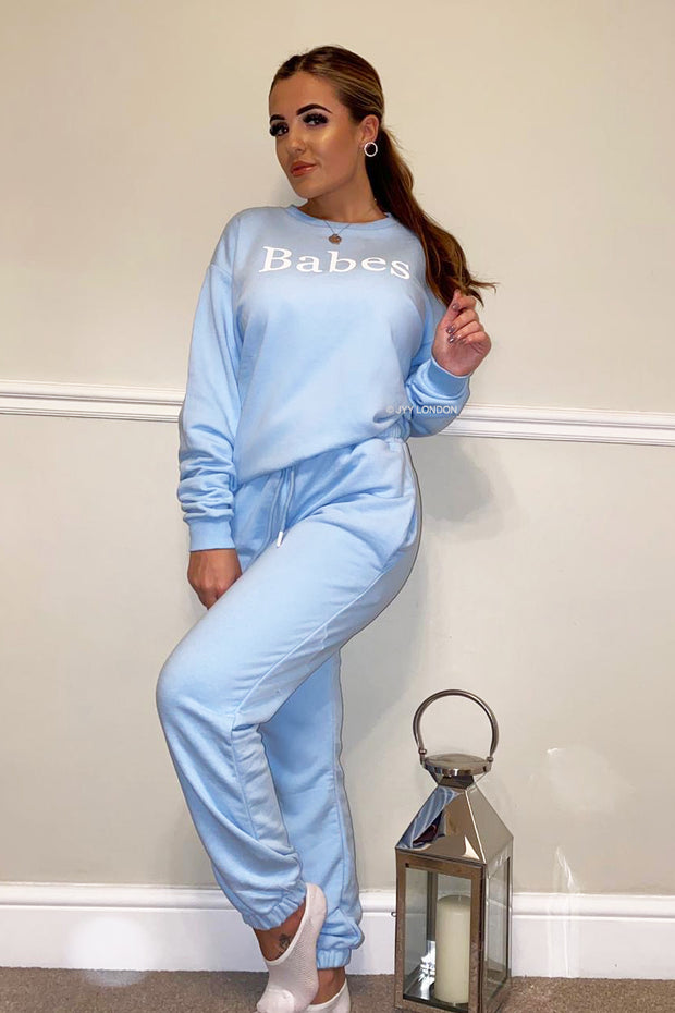 Babes Tracksuit - Baby Blue