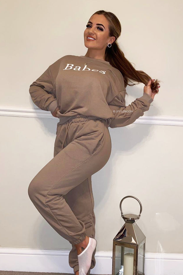 Babes Tracksuit - Taupe