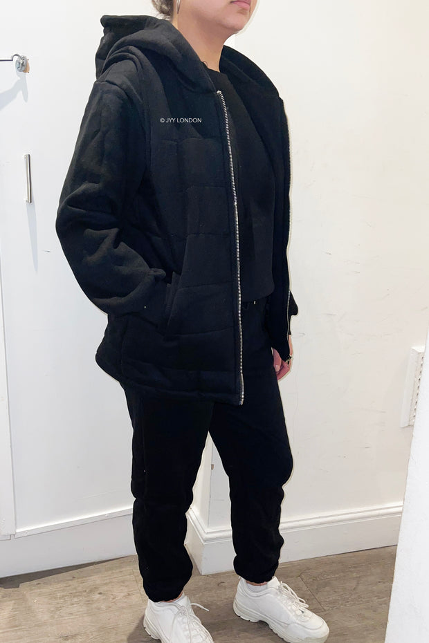 JYY Fleece Tracksuit & Gilet - Black