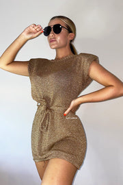 Metallic Dress - Bronze