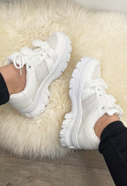 Buckle Sneakers - White