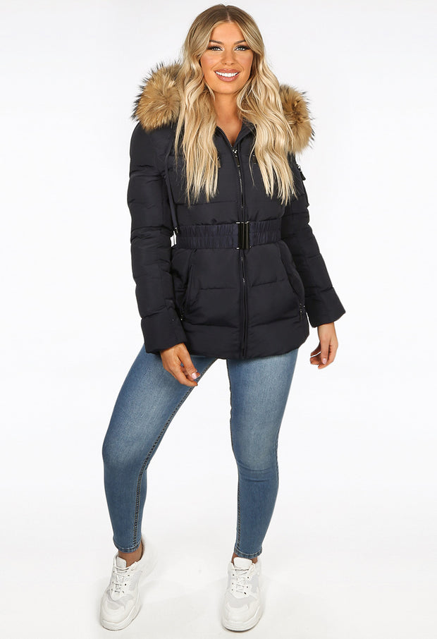 Quilted Puffer Jacket - Black