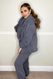 JYY Fleece Tracksuit & Gilet - Dark Grey