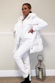 JYY Tracksuit & Padded Gilet - White