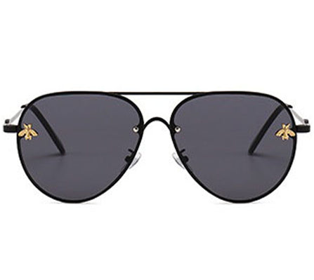 Simmi Sunglasses - Black & Gold