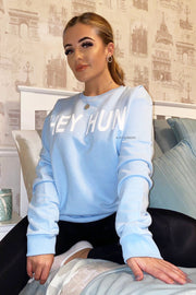 Hey Hun Sweater - Baby Blue
