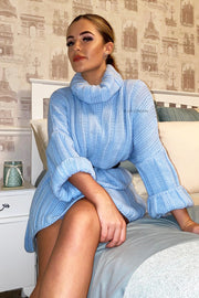 Oversized Jumper Dress - Blue
