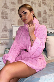 Oversized Jumper Dress - Pink