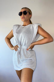 Metallic Dress - Silver