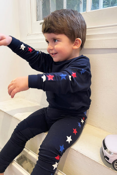 Kids Star Print Lounge Set - Navy