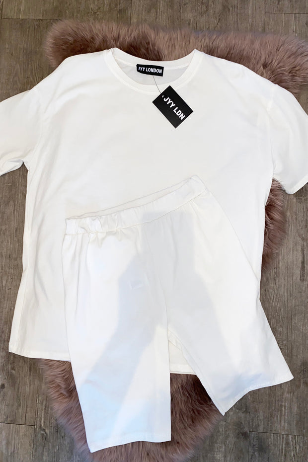 JYY Short Set - Off White