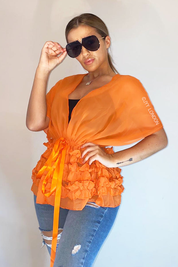 Ruffle Kaftan - Orange