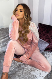 Pearl Sleeve Tracksuit - Pink PREORDER 12TH MARCH
