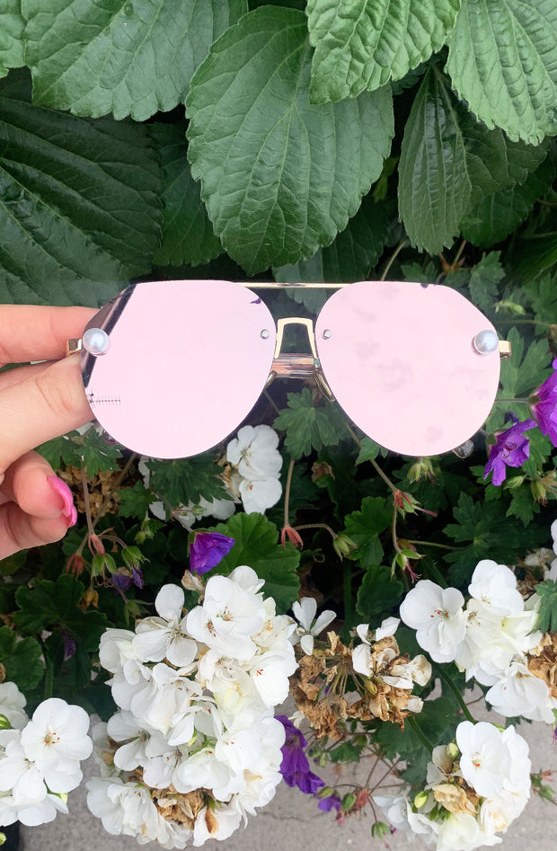 Pearl Sunglasses - Rose Gold