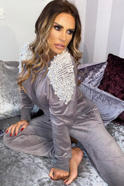 Pearl Sleeve Tracksuit - Grey PREORDER 12TH MARCH