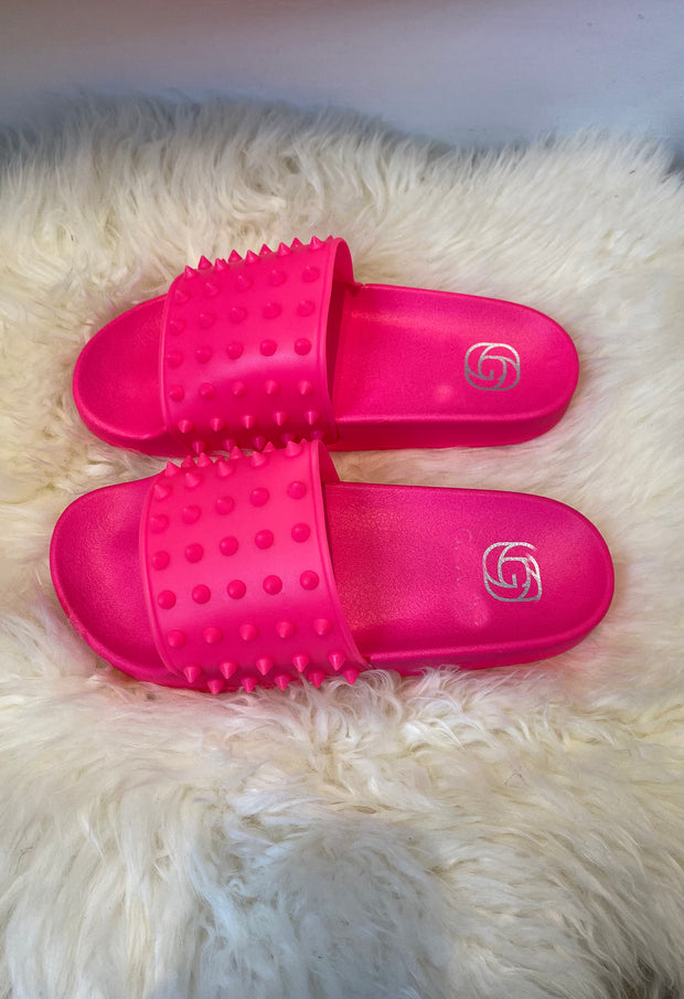 Spike Sliders - Neon Pink