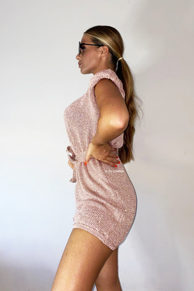 Metallic Dress - Rose Gold