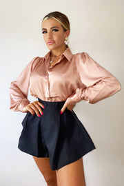 Shiny Shirt - Dusty Pink