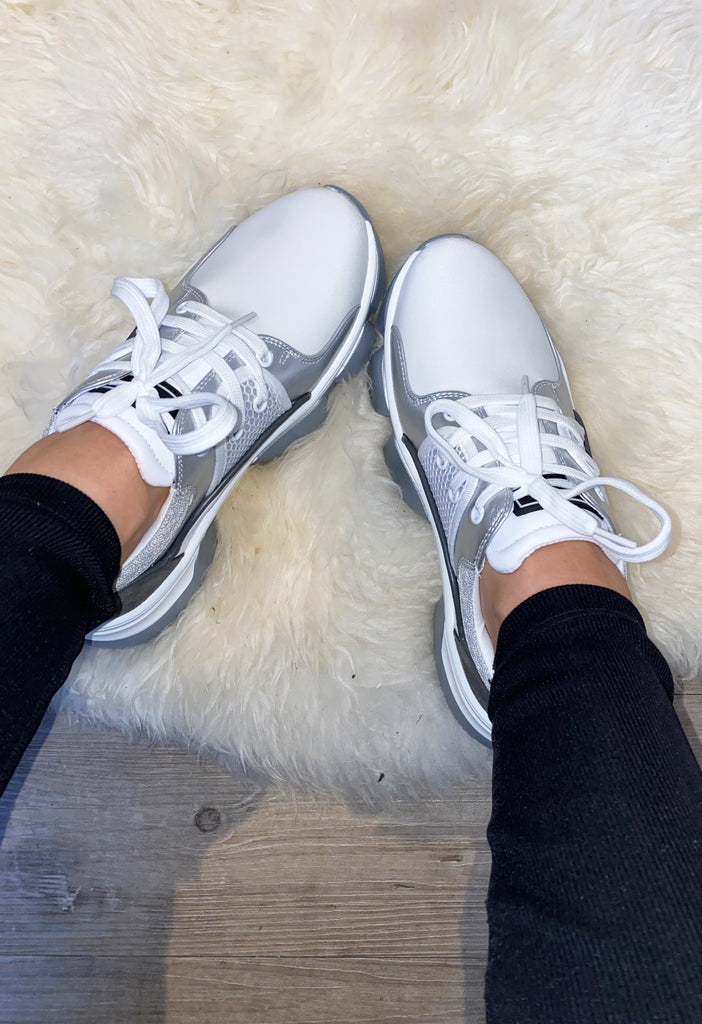 JYY Crunch Sneakers - Silver