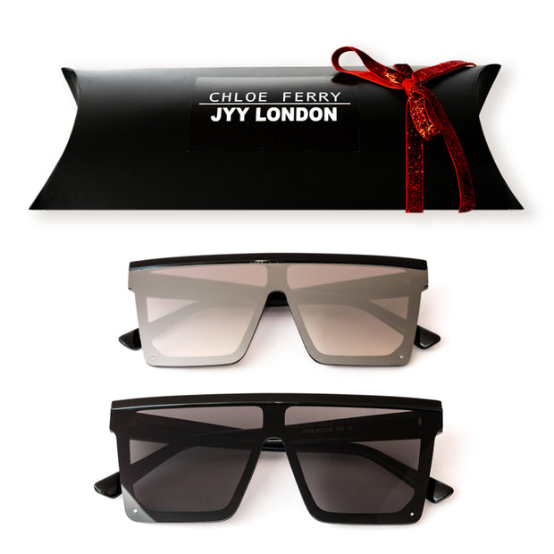 GIFT BOX - Sienna Silver & Sienna Black Sunglasses