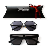 GIFT BOX - Pearl Black & Sienna Black Sunglasses
