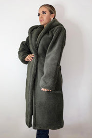 Teddy Coat - Khaki