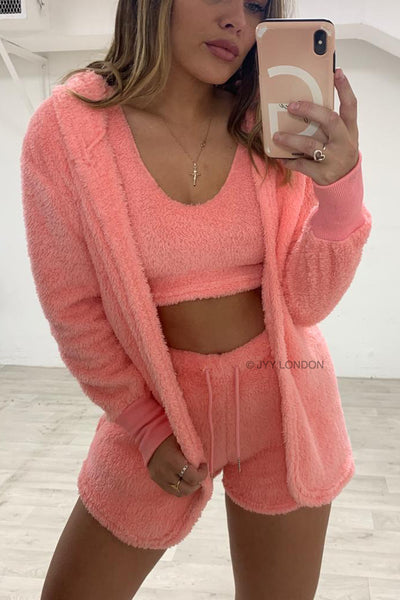 Teddy 3 Piece Set - Pink