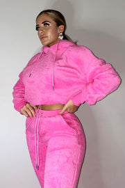 Teddy Tracksuit - Hot Pink