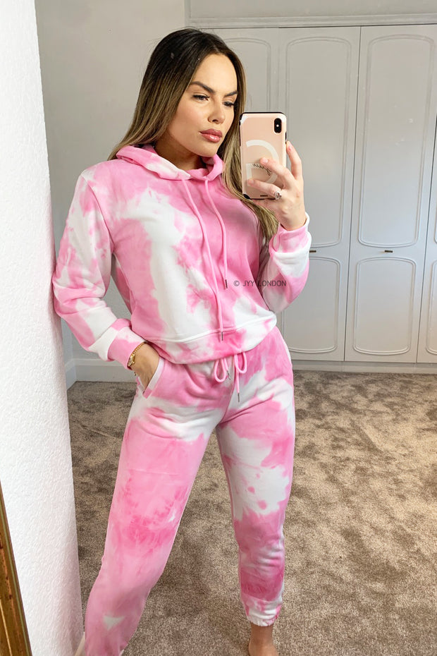 JYY Tie Dye Tracksuit - Pink