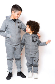 Panel Tracksuit - Grey
