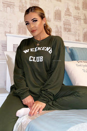 Weekend Club Lounge Set - Khaki PREORDER 26TH NOV