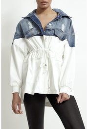 JYY Denim Jacket - White