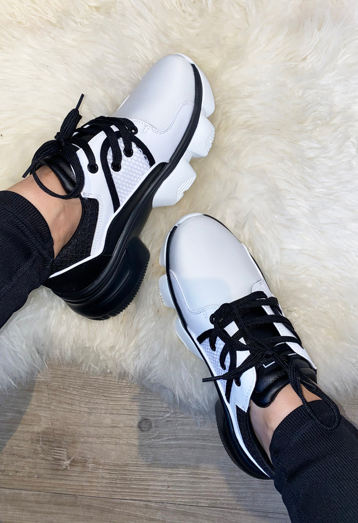 JYY Crunch Sneakers - White&Black