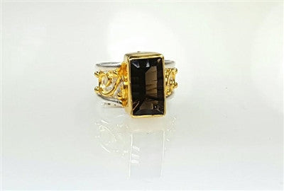 Sterling silver & 22k gold Vermeil ring.